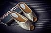 Шлепанцы женские золотистые Б769, фото 7