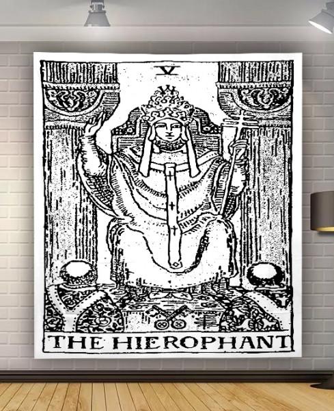 "9040443 Гобелен настенный ""Аркан Hierophant"""