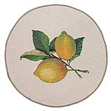 """Салфетка круглая маленькая под тарелку  """"Лимончело"""" , D 10 см, фото 2"""