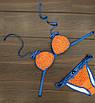 Купальник женский раздельный оранжевый с синим горошек П157, фото 2