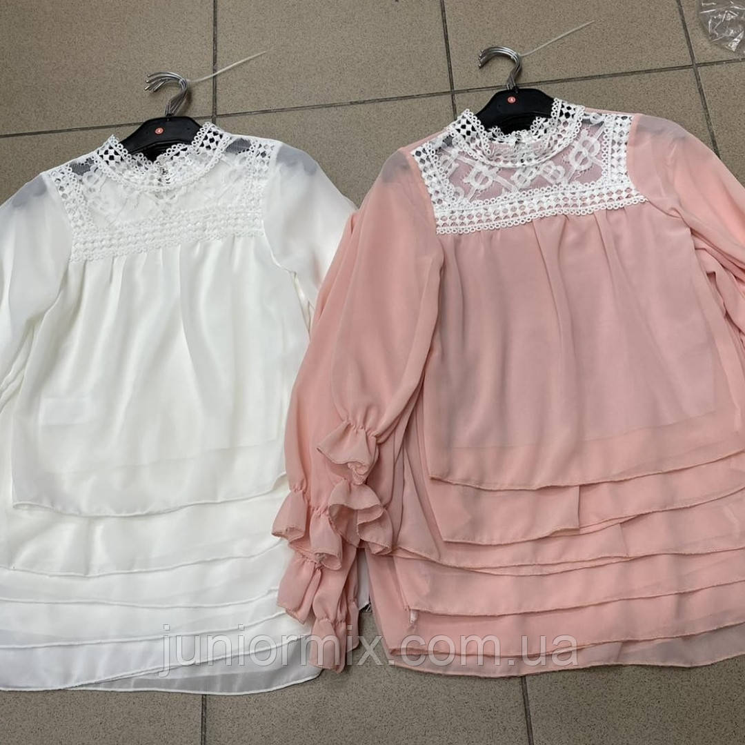 Детская шифоновая блузка нарядная на девочку оптом AJJ desingn