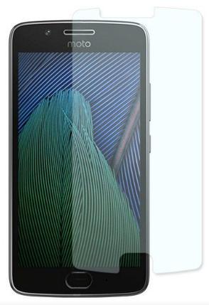 Гідрогелева захисна плівка на Motorola Moto G5 на весь екран прозора, фото 2