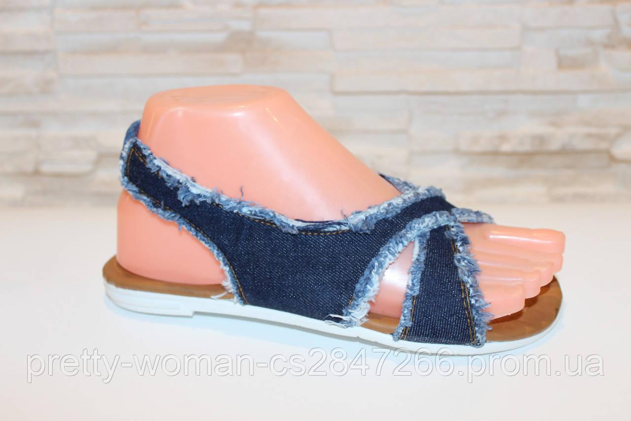 Босоножки женские джинсовые Б966