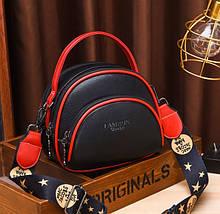 Маленькая женская сумочка клатч ч широким плечевым ремешком, мини сумка через плечо сумка-клатч Черный