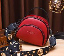 Маленькая женская сумочка клатч ч широким плечевым ремешком, мини сумка через плечо сумка-клатч Красный