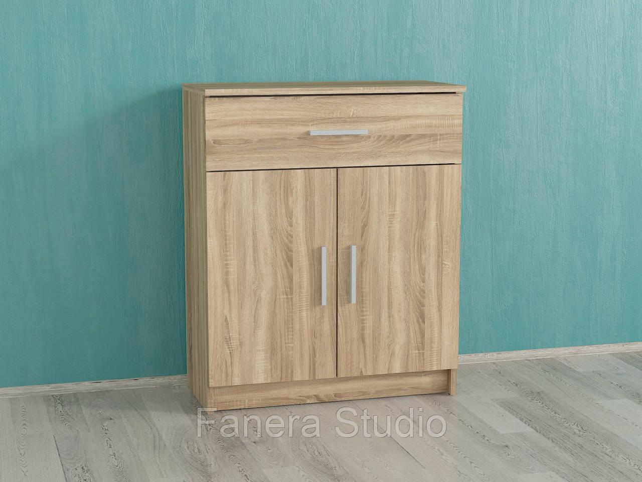 Комод с одним ящиком и дверью цвет Дуб сонома