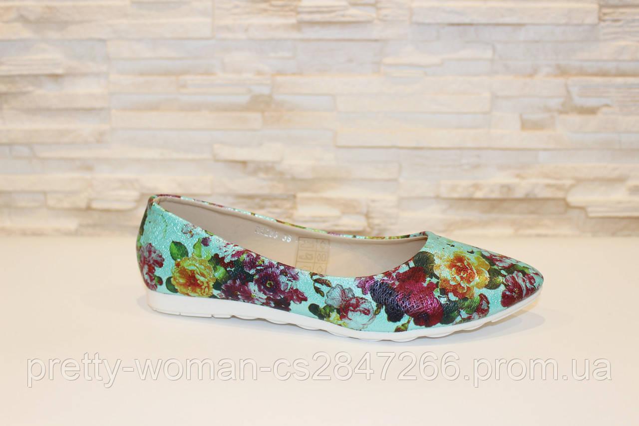 Туфлі-балетки жіночі кольорові Т76