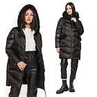 Зимова Жіноча Куртка Пуховик з хутром на кишенях Visdeer 🇨🇳Фабричний Китай Розмір 48/50, фото 5