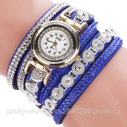 Наручные женские часы со стразами код 261