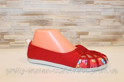 Балетки жіночі червоні Т771