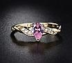 Позолоченное женское кольцо с розовыми и белыми фианитами код 1581, фото 4
