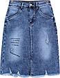 Модна джинсова спідниця класичної довжини Lady N, фото 2