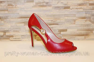 Туфлі літні жіночі червоні на підборах код Б203