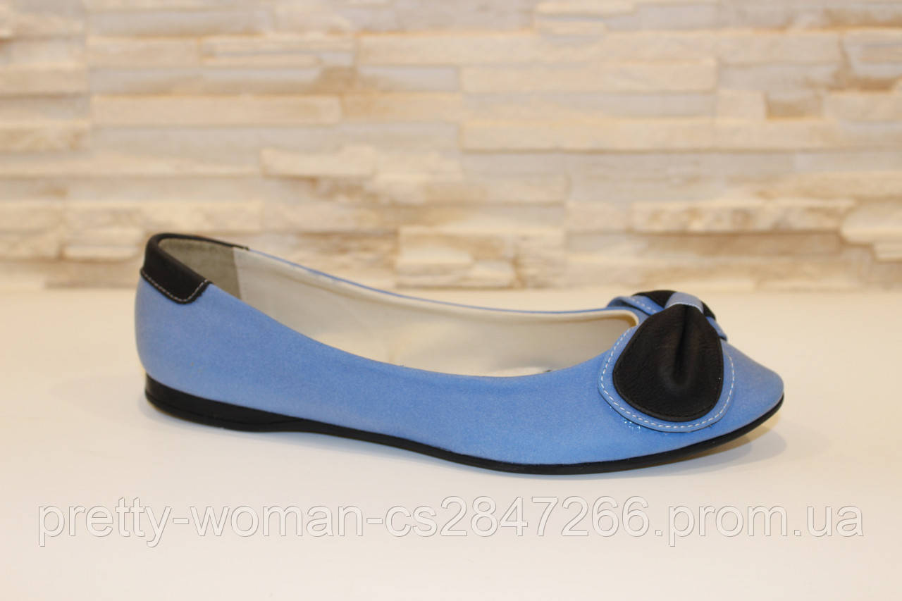Балетки жіночі блакитні Т722