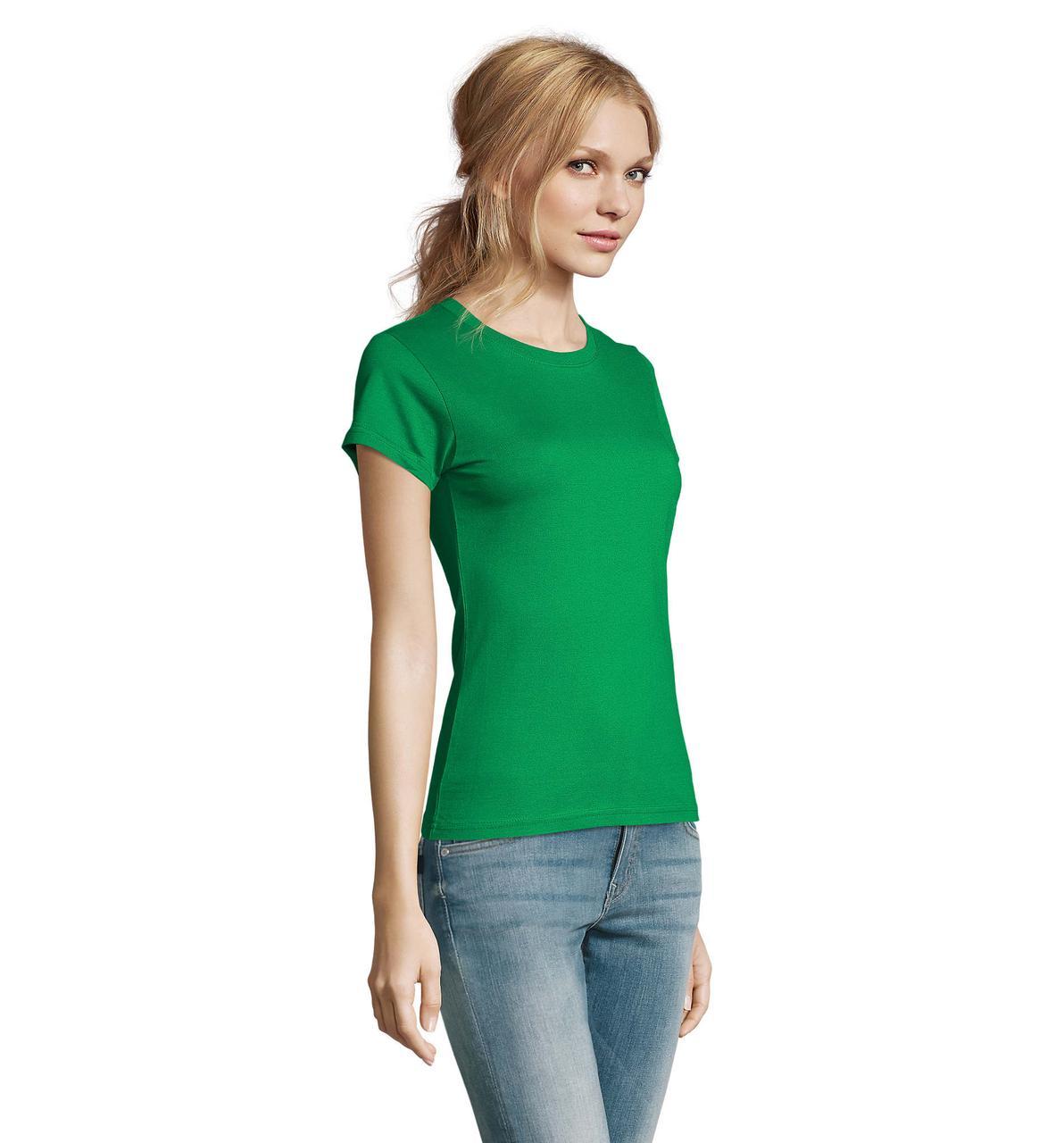 Футболка женская Imperial Women, Kelly-green_272, SOL'S, размеры от S до 2XL, плотность 190 г/м2
