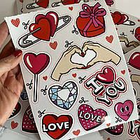 Валентинка в подарок! ОДИН ПОДАРОК наклейка в ОДНОМ заказе на любую сумму