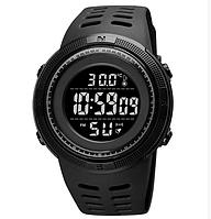 Часы наручные электронные Skmei 1681 с термометром черные