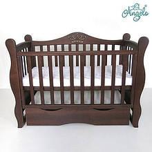 Детская кроватка -диван Angelo Lux -10 темный орех