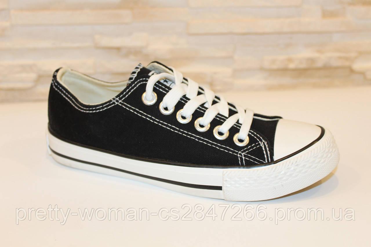 Кеди чорні модні Т997