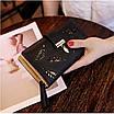Гаманець жіночий чорний Листочки код 279, фото 4