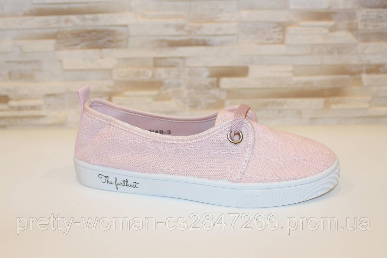 Кеды женские розовые Т1058