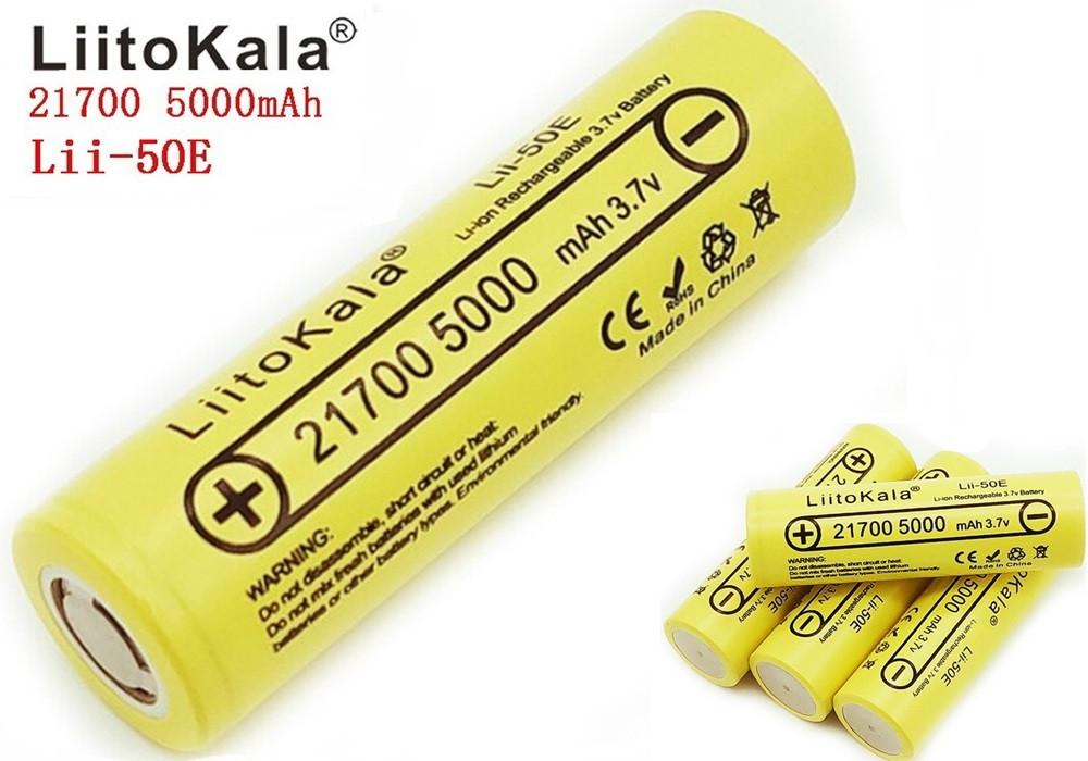Оригинальный Аккумулятор LIITOKALA Lii-50E 21700 5000mAh 15A Li-Ion без эффекта памяти