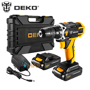 Аккумуляторный шуруповерт-дрель DEKO Loner 16V (2 батареи)