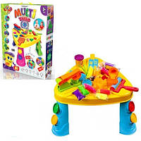 Розвиваючий Столик Multi Table з набором аксесуарів для дитячої творчості: пластилін, пісок 40х40х30 см
