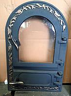 """Дверка з склом""""Astra""""овал для печи,мангала, фото 1"""
