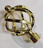 Карниз для штор металевий АЖУР подвійний 19+19 мм 2.0 м Кручена Колір Золото, фото 2