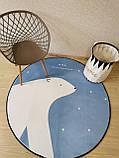 """Плюшевий килимок """"Мішутка"""" утеплений (150 см діаметр), фото 2"""