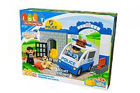 """Конструктор JDLT 5131 """"Поліцейську дільницю"""", 28 деталей, світло, звук, в коробці, фото 1"""