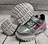 Детские кроссовки для девочек белые паетки 31р 18.5см, фото 4