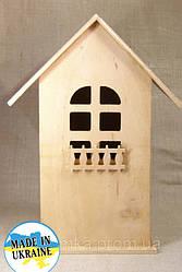 """Копилка / заготовка """"Домик с балконом"""" из фанеры основа для декорирования195х90х88мм."""