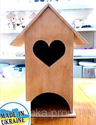 """Чайный домик деревянный основа для декупажа , заготовка """"Сердечко"""""""