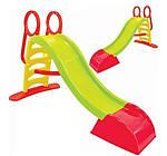 Дитяча гірка Mochtoys пластикова 180 см червона 104038, фото 2