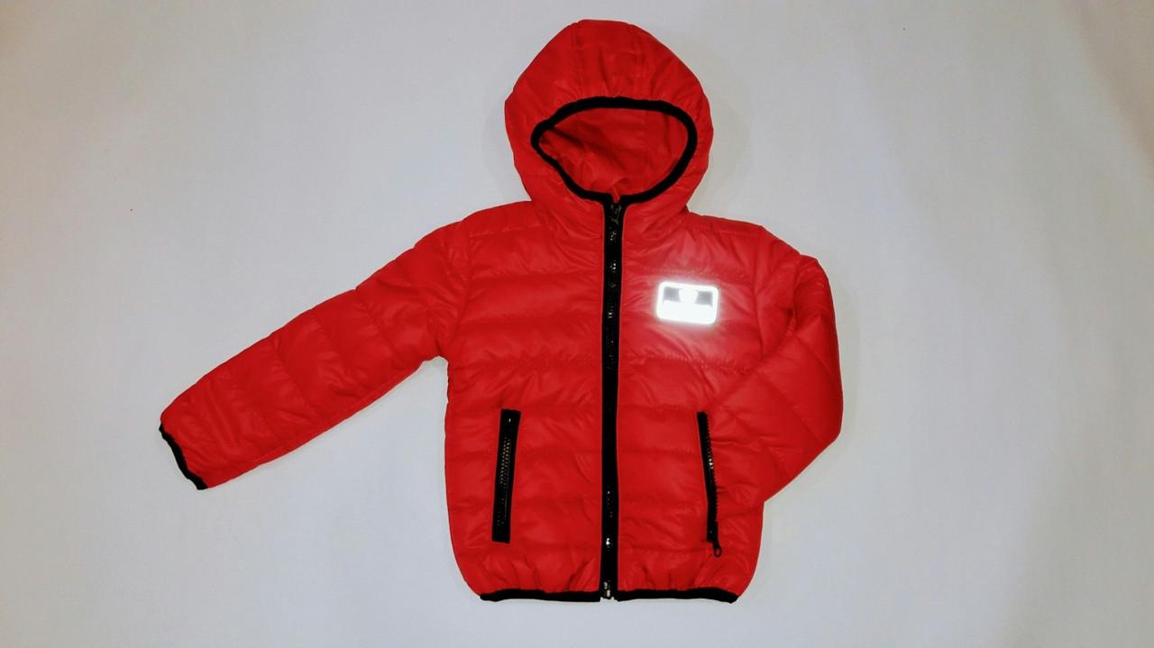 Детская куртка на ситепоне светоотражающие значки 92-116 см синтепон
