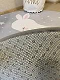 """Плюшевий килимок """"Мішутка"""" утеплений (150 см діаметр), фото 8"""