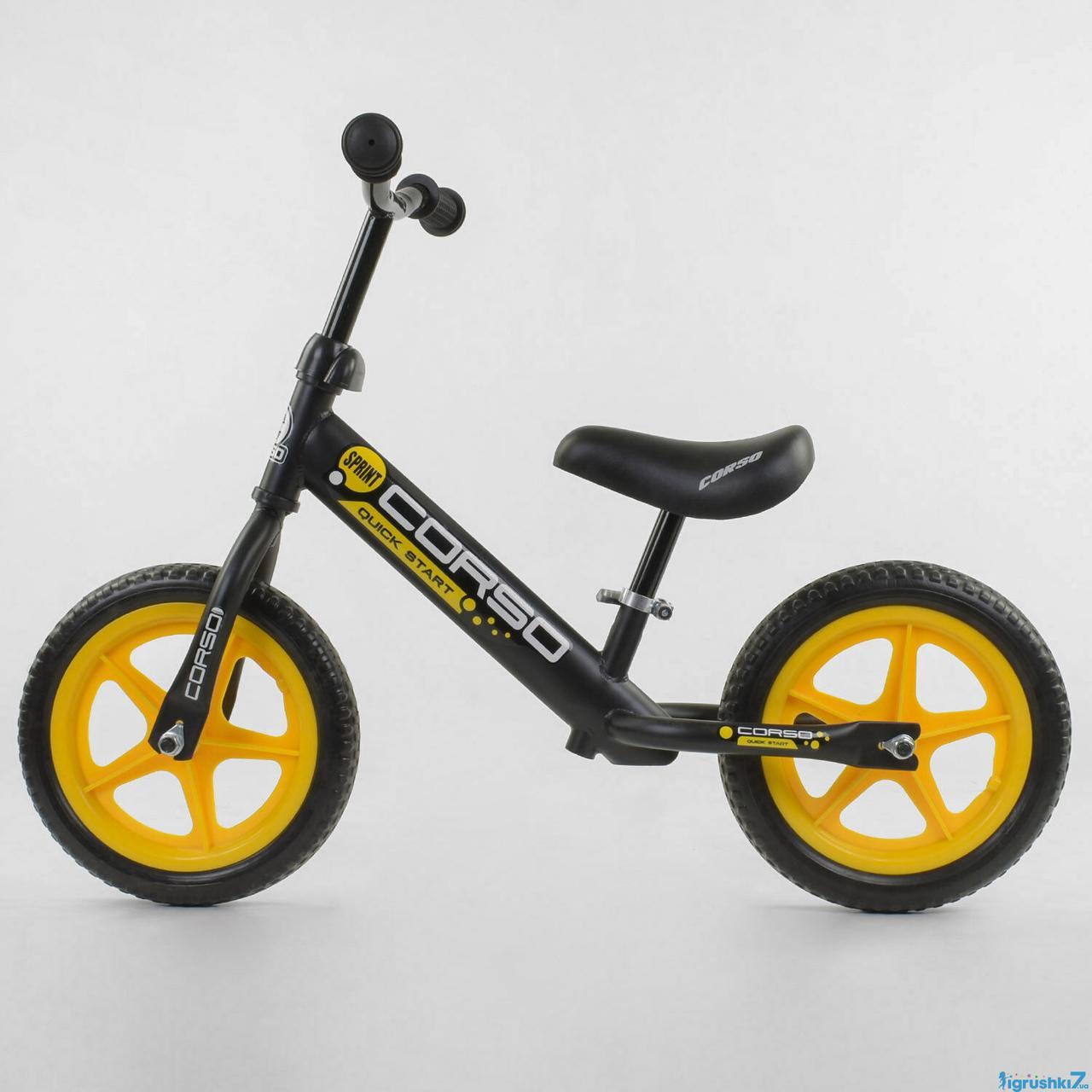 """Велобіг від """"CORSO"""" 15004 сталева рама, колесо 12"""" (ПІНА)"""