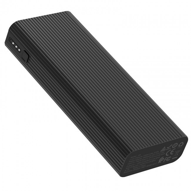 Внешний аккумулятор повербанк  Hoco 10000mAh J54 Spirit  Power Bank  цвета серый / чорный
