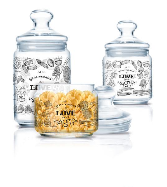 """Набір банок для сип. продуктів скло """"Luminarc. Club Love Pasta"""" 0,5х0,75х1л №P6675/4207(5)"""