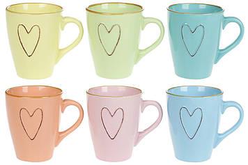 "Чашка керам. 340мл ""Серце"" №344-130/Bonadi/(12)(36)"