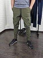 Мужские утеплённые штаны карго SoftShell хаки, фото 1