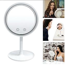 Дзеркало з підсвічуванням і вентилятором Beauty Breeze Mirror,кругле настільне дзеркало