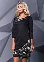 Платье черное замшевое с перфорацией, фото 1