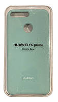 Чехол на Huawei Y6 2018 (Lilac Cream) Silicone Case Premium