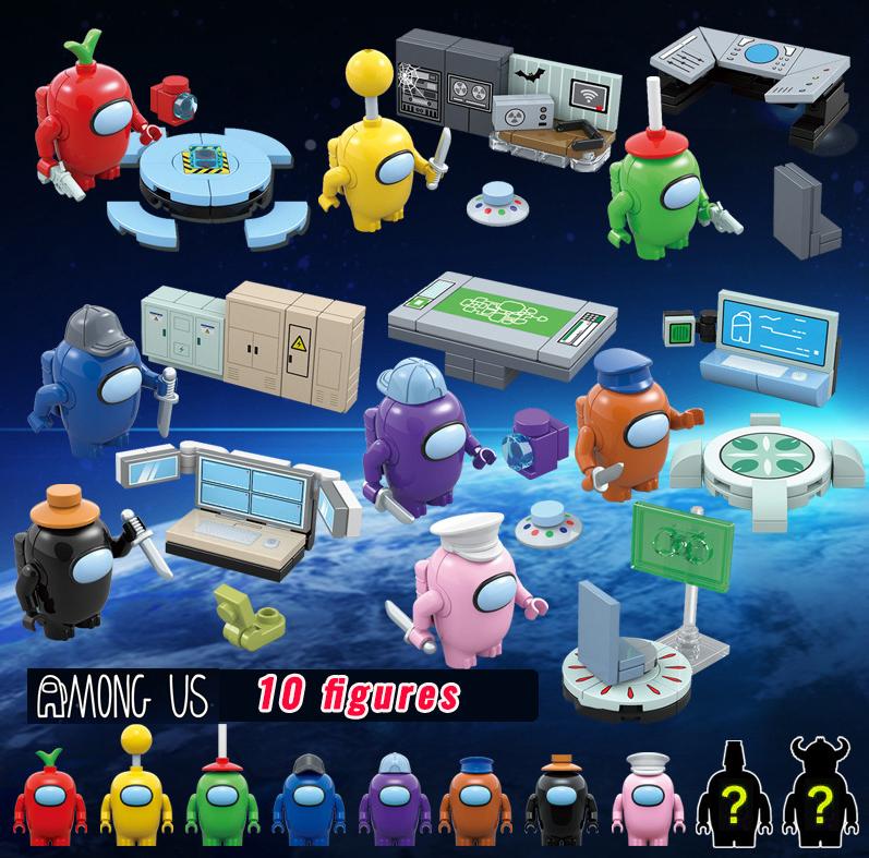 Набор Амонг ас 8+2 в красочных оригинальных коробочках Among Us мини фигурки Конструктор Игрушки