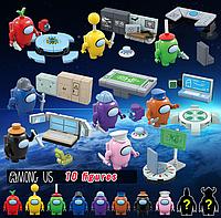 Набор Амонг ас 8+2 в красочных оригинальных коробочках Among Us мини фигурки Конструктор Игрушки, фото 1