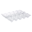 Пластикова упаковка на 10 яєць ПЕТ прозорий, фото 3