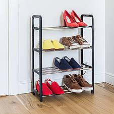 Подставка для обуви Tatkraft Artmoon Banff 4х ярусная 50x20x68 cм (699904), фото 2